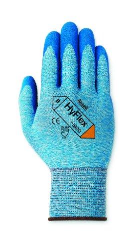 Ansell HyFlex 11-920 Gants oléofuges, protection mécanique, Bleu, Taille 9 (Sachet de 12 paires)