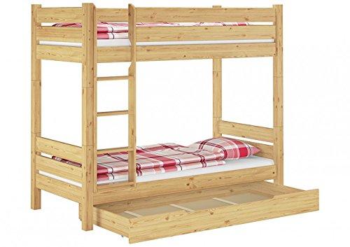 Erst-Holz Letto Castello Divisibile Anche Per Adulti 90X200 Nicchia 100Cm E Cassettone 60.16-09T100S1