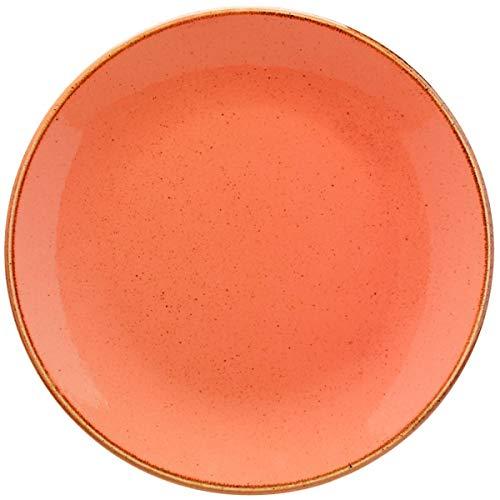 VEGA 10010692 Teller flach Sidina, rund, 24 cm (Ø), terrakotta, 6 Stück