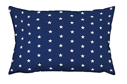 Ami Lian Coussin décoratif taie d'oreiller Coussin 40cm x 60cm astérisque Bleu