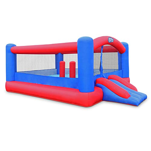 Inflatable Bounce House | Giant 12x10.5 Feet Blow-Up Jump Bouncy Castle for Kids with Air Blower, Carry Bag, Stakes & Repair Kit | Easy Set Up for Hours of Backyard Play & Party Fun | Ages 3-10