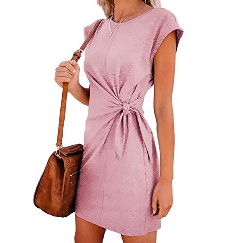 Kleid Umstandskleider Umstandsmode Ärmelloses Schwangerschaftskleid Lässig Solide Schwanges Kleid mit tiefem V-Ausschnitt für Schwangere