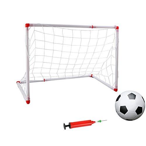 ASEDRF Kinder-Fußballtore Kinder Fußball Torpfosten Netz mit Ballpumpe Indoor Outdoor Soccer Sport-Spiele Mini-Trainings Practice Set Kinder Spielzeug