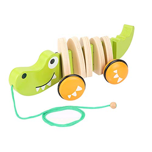 Save %6 Now! Alligator Push Toy,Wooden Activity Walker, Sturdy Construction, Makes Sounds When Pushe...