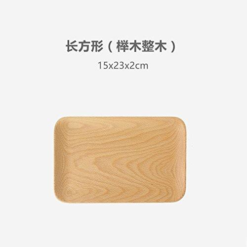 Bezigeorey Bois De Noyer Noir Japonais Carrés Collations Les Collations De Fruits Snack-Lave Lave Vaisselle,en Hêtre 15X23 Rectangulaire en Bois (Hêtre)