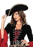 Leg Avenue Women's Swashbuckler Pirate Hat Costume Accessory, Black, One Size
