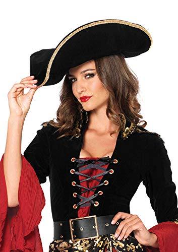 Chapeau de Pirate Stylé (Noir - Taille Unique)