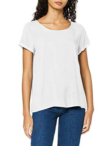ONLY Damen ONLFIRST ONE Life SS SOLID TOP NOOS WVN T-Shirt, Weiß (Cloud Dancer), 40