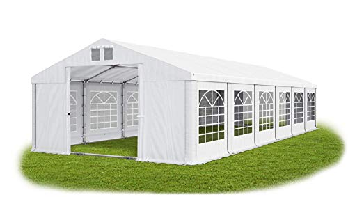 Das Company Marquee 5x12m waterproof white with roof and floor frame modular Tent Heavy-Duty PVC 580g/m² Tarpaulin Gazebo Summer Plus MS/SD