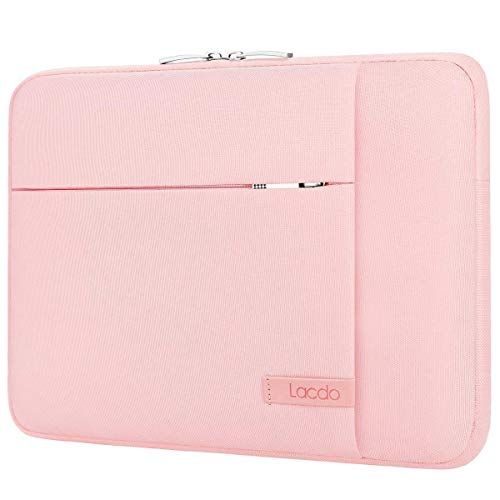 Lacdo 15 Inch Laptop Sleeve Case for 16-inch New MacBook Pro 2019/15 inch New MacBook Pro 2016-2019/15.4' Old MacBook Pro/15' Surface Book 3 2/XPS/MateBook D 15 Water Repellent Notebook Case Bag, Pink