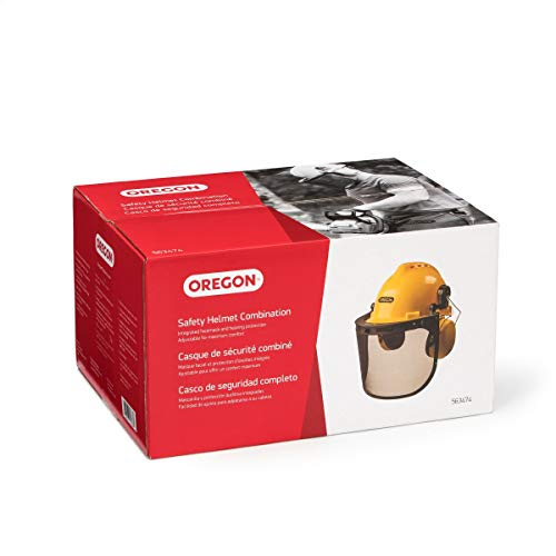 Oregon 563474 Chainsaw Safety Protective Helmet With Visor Combo Set,Yellow
