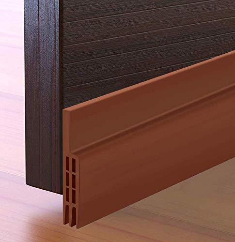 """Door Draft Stopper Under Door Seal for Exterior/Interior Doors, Door Sweep, Soundproof Door Bottom Weather Stripping, 2"""" W x 39"""" L, Brown"""