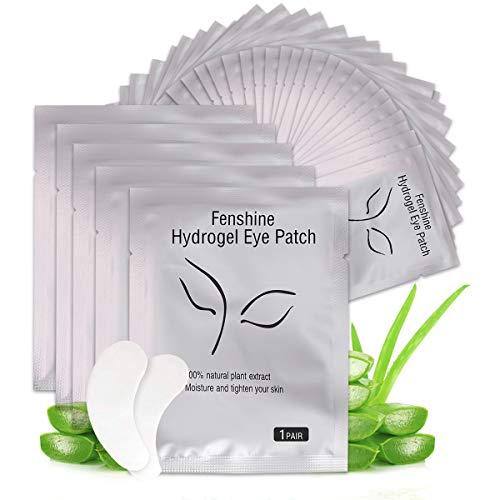 Fenshine 50 Pairs Eyelash Extension Eye Pads Lint Free Hydrogel Eye Patches Professional Under Eye Gel Pads for Lash Extensions Supplies (50 Pairs) …