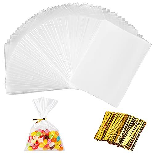 200 Piezas BolsasTransparentes, Bolsa Plástico, BolsasCelofanTransparente Bolsas Plástico OPP de Regalo para...