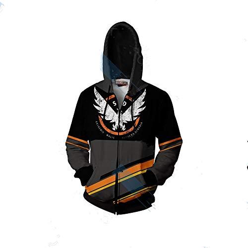 Kapuzenpullover Herren Damen Vedio Game Tom Clancy's The Division 2 Kapuzenpullover Sweatshirt Pullover Hoodie 3D Unisex-A_L