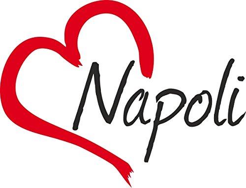 Adesivo per auto ' NAPOLI ' (Città) cuore Sticker ca.9x12cm taglio contorno
