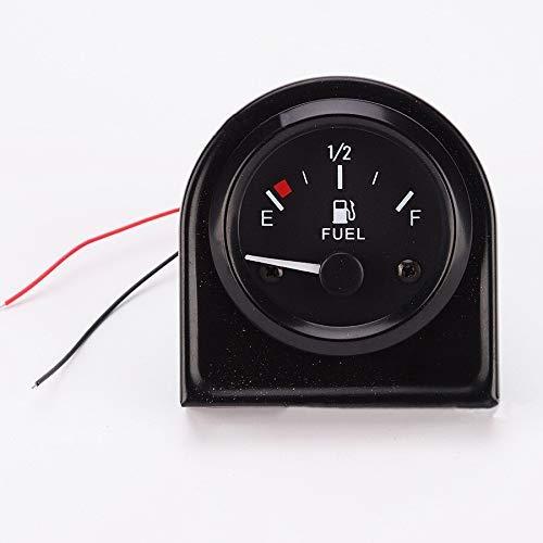 YIONGA CAIJINJIN Instrumententafel Universal-12V Auto-Fuel Gauge 52MM Racing Fuel Gauge Benzin Meter mit Floaten weißen LED-Leuchten Zubehör for Auto-LKW-Boot Automotive