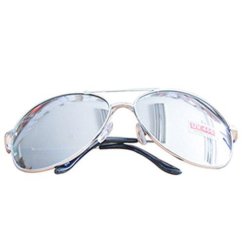 Lunettes de soleil style aviateur avec verres miroir Argenté