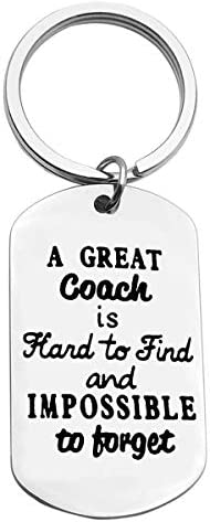 Thank You Keychain for Coach Thanksful Appreciation Gifts A Great Coach is Hard to Find Keyring product image