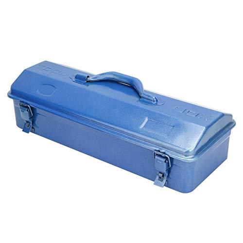 Caja de herramientas duradera de color azul para almacenamiento de herramientas de gran capacidad (43 x 18 x 11 (410))