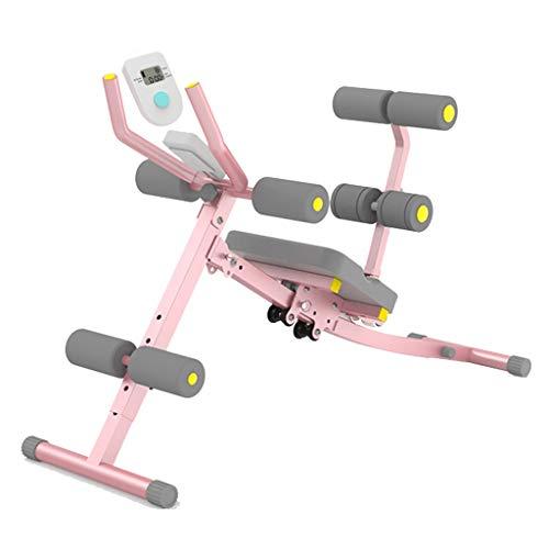 Stretching Verstellbarer Bauch umfassender sportlicher Fitness Bauchmaschinen Übung Faltbare Fitnessgeräte (Color : Black, Size : 40 * 113 * 80cm)