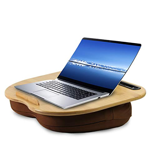 VLOXO Tragbare Laptopkissen Knietablett Kissen mit Kabelloch & Anti-Rutsch Streifen inkl. Tablet-Ständer bis zu 14 Zoll für Notebook MacBook Tablet MEHRWEG