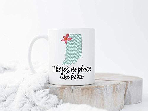 Keyboard cover Custom Home State Mug Custom Indiana Mug Personalised Indiana Cups Custom State Ceramic White Mug
