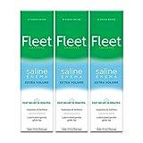 Fleet Laxative Saline Extra Enema for Adult Constipation, 7.8 fl oz, 3 Pack