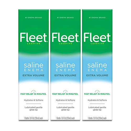 Fleet Laxative Saline Extra Enema for Adult Constipation, 7.8 fl oz, 3 Pack