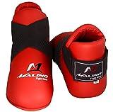 Malino Martial Arts - Protector de pies para karate (talla mediana), color rojo