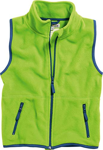 Playshoes Kinder Fleeceweste farbig abgesetzt Weste, (grün 29), 104