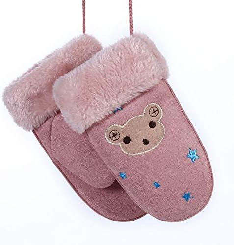 New Winter Boys Girls Gloves Cute Warm Rope Full Finger Mittens Gloves for Children Kids - (Color: Z26)