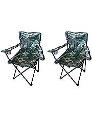 Mojawo 2 stuks visstoelen, campingstoel, vouwstoel, visstoel, regiestoel, camouflage, met bekerhouder en tas