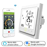 Termostato WiFi per Caldaia a Gas/Acqua,Termostato intelligente Schermo LCD(TN schermo) Touch Button...