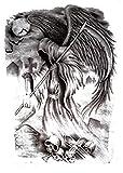 Dioses Muertos Occidentales 15X21cm-5Pcs Tatuajes Temporales Art Sticker Cover Up Set Lote Único Negro Para Adultos Mujeres Niñas Impermeables Extraíbles No Tóxicos