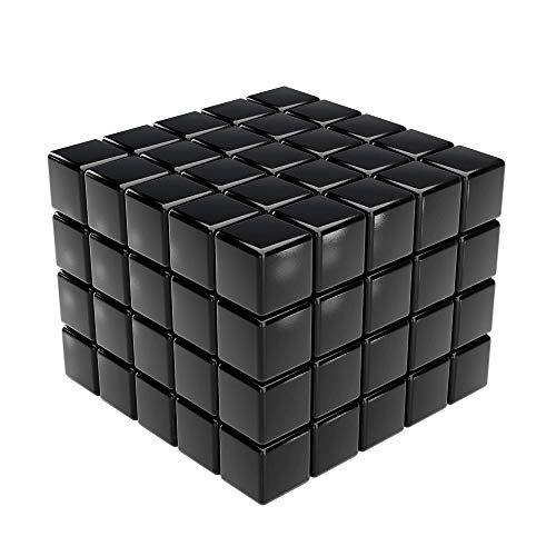 GAUDER 100 Magnetwürfel | Magnetische Neodym-Würfel | Würfelmagnete (Schwarz)