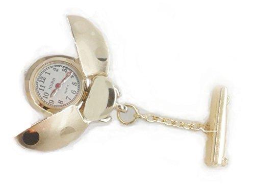 NURH Reloj Enfermera Mariquita Dorado.Movimiento y BATERIA JAPONES 1ª Calidad. Puede SER Grabado SIN Coste (Dejar Mensaje AL Vendedor).