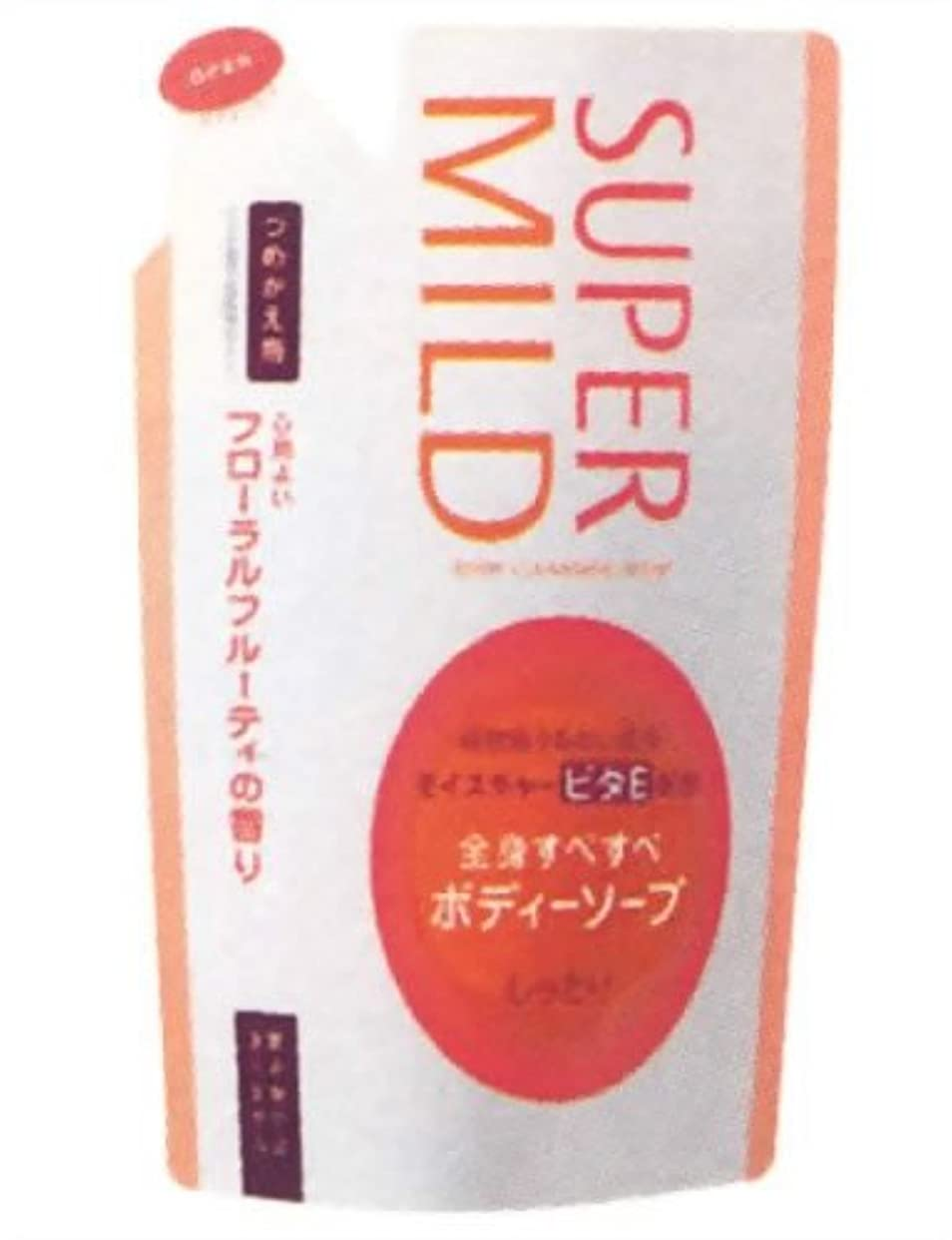 リーフレット聴くほうきスーパーマイルドボディソープ(しっとり)つめかえ フローラルフルーティの香り 500ml