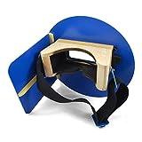 Wendy's Pancake Welding Hood Helmet w/Strap - Right Handed - BLUE