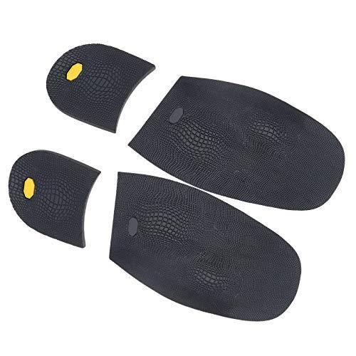 1 Paar Schwarz Gummi Männer Anti-Slip Ersatz Schuhsohlen Schuhreparatur