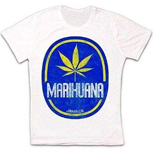 KAIYUAN Jamaica Marihuana Cannabis Weed Retro Vintage Hipster Unisex T Shirt