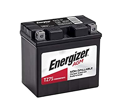 Energizer - ETZ7S TZ7S Motorcycle and Atv 12V Battery, 130 Cold Cranking Amps and 6 Ahr, Replaces: CTZ7S, YTZ7S, M727ZS, YTZ7S, ES-TZ7S, TZ7S, GTZ7SFP, FAITZ7S, MB YTZ7-S