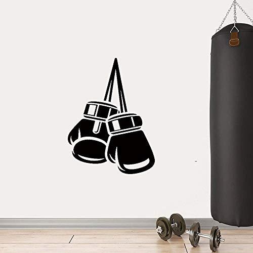 Fitness Boxhandschuhe Wandaufkleber Wandbild Boy Room Boxing Gym Hintergrundaufkleber Wandbild Vinyl Wandaufkleber A9 30X39CM