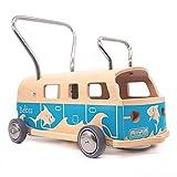 3 en 1 Andador + furgoneta + correpasillo Baloss ALOHA de madera azul, Made in...