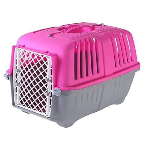 HYLDM Grande trasportino per Animali Domestici in plastica, Grande Gabbia per Trasporto Portatile, Forte capacità di Trasporto, trasportino per Animali Domestici Traspirante e Resistente