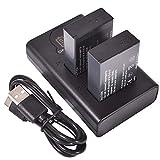 DSTE 2X LP-E17 Repuesto Batería + Cargador USB Dual con Pantalla LCD Compatible para Canon EOS M3, M5, 77D, 750D, 760, 8000D, 9000D, Kiss X8i, Rebel T6i, Rebel T6s Digital SLR Cámara
