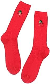 Socks 3 Pairs Cute Cartoon Fruit Print Girls Kawaii Socks(banana) Outdoor & Sports