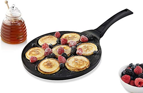 GF-Household goods Blini Pan Nonstick Silver Dollar Pfannkuchen Pan Mit 7-Mould Design Antihaftbeschichtung (Color : Black, Size : A)