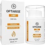 OPTARISE® wärmendes CBD Gel   gegen Verspannungen   Sport Salbe für Muskelschmerzen & steifen Hals   durchblutungsfördernd   Aktiv Wärmegel für Regeneration   laborgeprüft