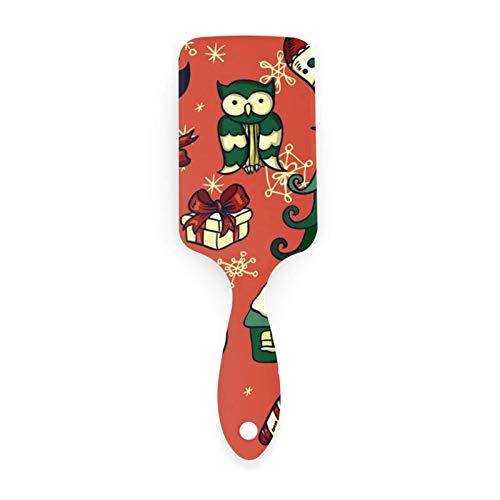 AOOEDM Air cushion comb Cepillo de pelo con patrón de regalos de Navidad con peines con cojín de aire para belleza de niñas